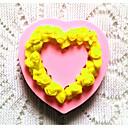 bakeware silikon srce pečenje kalupi za Fondant bombona čokoladna torta (slučajni boje)
