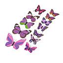 12ks 3D simulace motýl samolepky na zeď umění obtisky