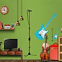 nástěnné samolepky lepicí obrazy na stěnu ve stylu kytara PVC samolepky na zeď
