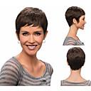女性のための前髪と短い直線合成かつら