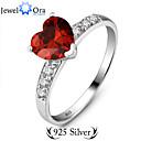 Prstýnky Módní Párty Šperky Stříbro Dámské Široké prsteny 1ks,Jedna velikost Červená