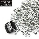 300PCS 3D Silver Square Alloy Nail Art Zlatna i srebrna Dekoracije