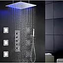 Suvremeni / Moderna Sustav za tuširanje LED / Tuš s kišnim mlazom / Široki spary / Tuš uključen with  Keramičke ventilaJedan ručku četiri