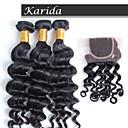 新しい到着ブラジル毛延長は毛の織り、閉鎖でトップの販売12-26inchブラジルの自然な波をレミー