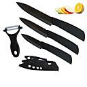 4 ks černá čepelí keramické nože set 3 '' / 4 '' / 5''kitchen nůž s kryty a loupač set