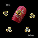 10 ks Golden Flower tvar nehtu slitiny šperky drahokamu ideální pro 3D nail art dekorace 5 * 5mm