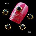 10ks třpytky zlatá květina slitiny kovu s kouzlo perla na nehty Nail Art 3D slitina materiálu na hřebík tip 6mm
