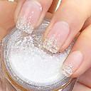 blikat bílý prášek, třpytky nail klíčovými dekorace