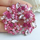 2.17 palců gold-tone růžový kamínky crystal květ brož přívěsek umělecké dekorace