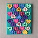 フォンダンケーキチョコレートシリコーン型、装飾ツール耐熱皿形の愛の手紙