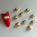 10ks kulatost perla vložka 3d slitina nail art dekorace