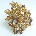nádherný 4,33 palce zlato-tón topaz krystal drahokamu květina brož art deco brož kytice