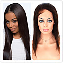 黒人女性のための#1、#1B、#2、#4120パーセント-130%密度グルーレスブラジルのバージンの人間の髪の毛の絹のようなストレートフロントレースウィッグ