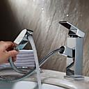 現代風 組み合わせ式 セラミックバルブ シングルハンドルつの穴 with クロム バスルームのシンクの蛇口