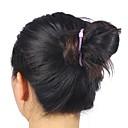 2015新しいファッションの合成弾性花嫁おだんごヘアヘアシニョンローラは合成饅頭かつらクリップをヘアピース