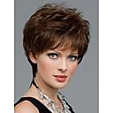 žene lijepo kratko prirodno ravna vlasulja elegantan dama smeđe sintetičke kose perika