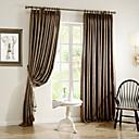 Dvije zavjese Prozor Liječenje Zemlja / Moderna / Neoclassical / Europska / Dizajnerske , Jednobojni Bedroom Polyester MaterijalZavjese