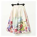 Vintage / Ležerno Ženski Suknje - Midi , Mikroelastično Poliester