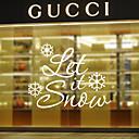 Okno samolepky Samolepky na okno styl nechat sněžit anglická slova&cituje PVC okna samolepky