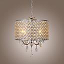 60 Lusteri ,  Modern/Comtemporary Bubanj Electroplated svojstvo for Crystal Metal Living Room Bedroom Dining Room