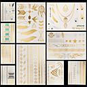 Unbranded - タトゥーステッカー - Non Toxic / パターン / Halloween / 大きいサイズ / 腰 / Waterproof / メタル - 女性 / 男性 / 大人 / 青少年 - 紙 - 14.5 * 20cm - パターン - 10 個