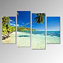 platno Set Pejzaž Slobodno vrijeme Moderna,Četiri plohe Vertikalno Ispis Art Zid dekor For Početna Dekoracija