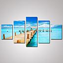 Volný čas / Krajina / Architektura / Fotografie Na plátně Pět panelů Připraveno k Pověste , Horizontální