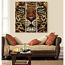 キャンバス地アートライオンの色は3の装飾画セットに直面