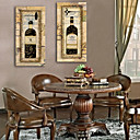 rastegnuti platnu umjetnosti Europska boca vina ukras slika set od 2