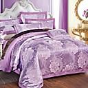 Cvijetan Poplun Cover Sets 4 komada Pamuk Luksuzno Jacquard Pamuk Bračni Veliki bračni 4kom (1 duvet Cover, 1 Stan list, 2 Shams)