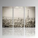 Volný čas / Fotografie / Moderní / Romantické / Pop Art Na plátně Tři panely Připraveno k Pověste , Vertikální
