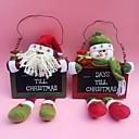 "35cm / 13.7 ""2pcs / postaviti Christmas Santa Claus snjegović odbrojavanje ploča visi drvo dekor drveta vrata visi ukrasi"