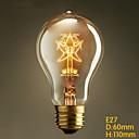 E27 40w A19 hvězda Edison káva retro evropská a americká tradiční výzdoba světlý