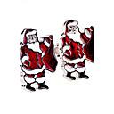 toonykelly® modni bakreni posrebreni božić ljudi poklon gumb manžete (1 par)