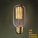 t45 220v 60w fil rectiligne terrasse couloir ampoule Edison Edison de la personnalité lampe déco rétro d'art