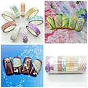 10ks mix barev&Styl třpytky striping tape nail art dekorace