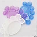 2pcs noktiju paleta slika alat boja paleta boja pločica slučajnim dostava