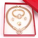 Sady šperků Módní luxusní šperky Štras Slitina Náhrdelníky Küpeler Prstýnky Náramek Pro Svatební Párty 1Nastavte Svatební dary