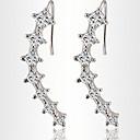 スタッドピアス クリスタル あり 真珠 ジルコン キュービックジルコニア 模造ダイヤモンド 合金 1 2 ジュエリー のために パーティー 日常 2 個
