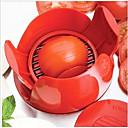 新しいノベルティキッチンツールステンレス鋼マニュアルトマトスライサーフルーツ野菜カッターチッパー
