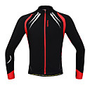 SANTIC® Cycling Jacket Men's Long Sleeve Thermal / Warm / Windproof / Anatomic Design / Fleece Lining / Front Zipper / Reduces Chafing