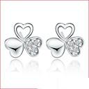 Sitne naušnice Kristal Slatka Style Plastika Kristal Pink Jewelry Za Vjenčanje Party Dnevno 2pcs