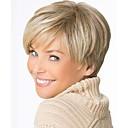 fashion stará dáma blond barva krátké rovné vlasy syntetické paruky
