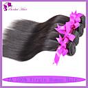 Levné peruánské panna vlasy rovné lidské vlasy 4ks za svazků 100 g za ks / 3,5 oz prodlužování vlasů