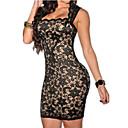女性の黒/青/ピンクのセクシーなドレス、レースボディコン
