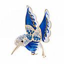 ハチドリのブローチピンは、結晶エナメルのある女性のジュエリーアクセサリーのためのブローチ