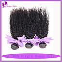 図7aインド変態巻き毛は、100%バージン人毛エクステンション3枚多くの天然黒色第1b#を編みます