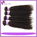 人間の髪編む ブラジリアンヘア Kinky Curly 6ヶ月 4個 ヘア織り