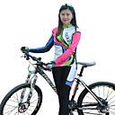 FJQXZ® タイツ付きサイクリングジャージー 女性用 長袖 バイク 高通気性 / 保温 / 速乾性 / 防風 / 抗紫外線 / フロントファスナー / 耐久性 / 後ポケット / 3Dパッド アームウォーマー / ジャージー&パンツ / 洋服セット/スーツ