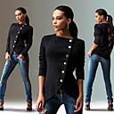 Sexy / Přiléhavé na tělo / Ležérní / Párty kulatý tvar - Dlouhé rukávy - ŽENY - Coats & Jackets ( Směs bavlny )